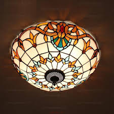 stained glass bathroom ceiling lights for flush mount