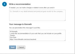 how to recommend someone on linkedin intero advisory