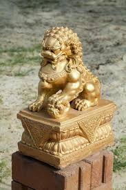 gold lion statue gold lion statue stock photo image of architecture