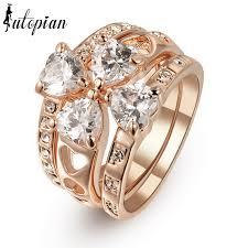aliexpress buy brand tracyswing rings for women iutopian austrian ring wedding jewelry 3 rings for