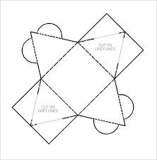 pyramid paper template net truncated square pyramid templates