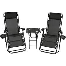 Lane Zero Gravity Recliner Sunnydaze Zero Gravity Reclining Lounge Chairs With Pillows Cup
