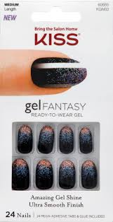 kiss gel fantasy nails painted veil 24 ct