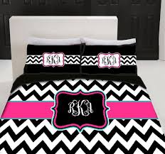 Custom Comforters Custom Personalized Chevron Bedding Set Queen Size Your Colors