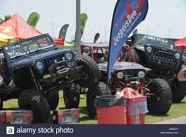 jeep usa jeeps on the beach jeep convention in daytona florida usa stock