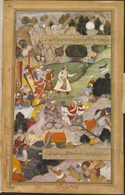 painting akbarnama akbar s pilgrimage to ajmer in thanksgiving