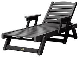 Cedar Chaise Lounge Pawleys Island Durawood Chaise Lounge Beach Style Outdoor