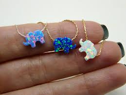 turquoise opal earrings elephant necklace opal elephant necklace lucky charm