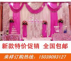 Curtains Wedding Decoration Aliexpress Com Buy Luxury Pink Wedding Backdrop With Beatiful