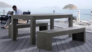 Table Et Banc Pliant Carrefour by Faire Son Salon De Jardin En Beton U2013 Qaland Com