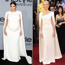 kim kardashian u0027s white cape dress at instyle awards popsugar