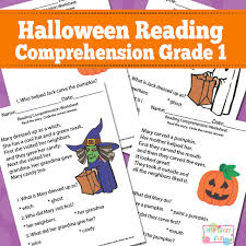 halloween reading comprehension worksheets for 1st grade itsy