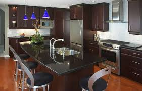 Cheap Kitchen Countertops Kitchen Black Kitchen Countertops With Dark Brown And Blue Mini