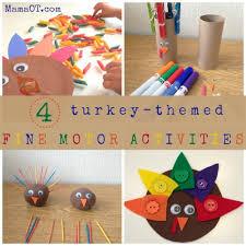4 turkey themed motor activities