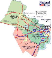 virginia county map with cities cities in northern va fairfax arlington