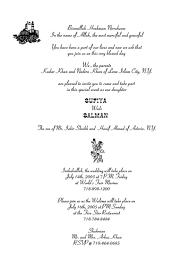 Islamic Wedding Card Islamic Wedding Invitations Wording 12757