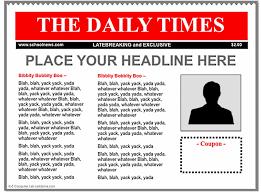 newspaper template for google docs template design