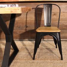 Tolix Dining Chairs Tolix Dining Chair With Wooden Seat Replica Pauchard Kitchen
