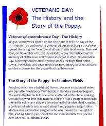 veterans day the history and the story of the poppy stories