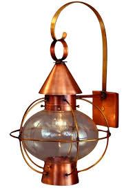 Copper Outdoor Lighting Cape Cod Onion Lantern Copper Wall Light Nautical Rustic