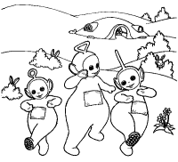 mega coloring pages 25 teletubbies coloring pages