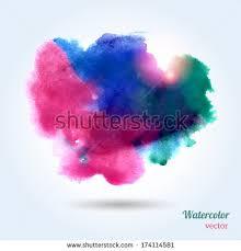 watercolor texture vector illustration multicolor grunge stock