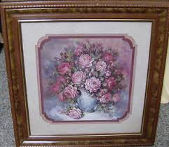 retired home interior pictures homco home interiors retired 18 5 picture roses blue vase