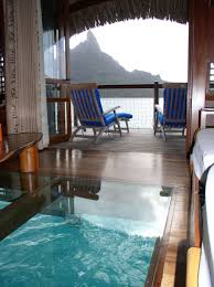 suite over the ocean w a glass floor so you could look down into