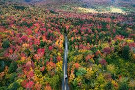 aerial views fall colors hampshire michaelmatti