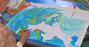 Europe Physical Map by Designing A Physical Map Of Europe The Troutbeck