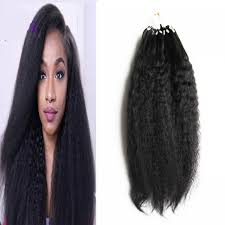 microlink hair extensions coarse yaki micro link hair extensions human 100g