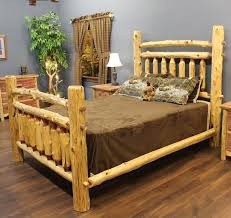 Cheap Log Bed Frames Cedar Wood Bed Frame Cedar Arkansas Post Log Bed Jhe S Log