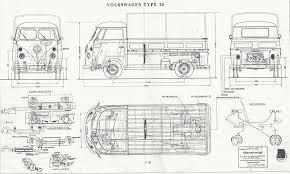 volkswagen bus drawing volkswagen type 2 t1 blueprint download free blueprint for 3d