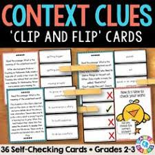 context clues worksheets focusing on 5 types of clues context