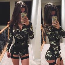 Halloween Costumes Military Jumpsuit Costume Military Style Camouflage Halloween