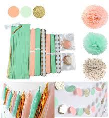 mint green tissue paper qian s party mint glitter gold tissue paper pom