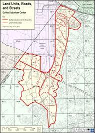 Metro Center Map by The Dulles Suburban Center Study Fairfax County Virginia