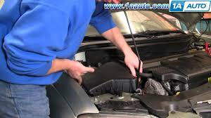 how to install replace engine air filter chrysler pacifica 04 08