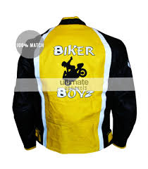 street bike jackets biker boyz derek luke kid yellow motorcycle jacket