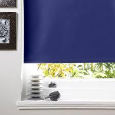 Blue Blackout Blinds Colours Kona Corded Navy Blue Roller Blind L 160 Cm W 120 Cm