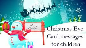 christmas eve card messages for children