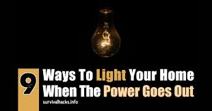 light that comes on when power goes out 9 ways to light your home when the power goes out off grid