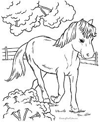 coloring pages horse colour colouring pages print color
