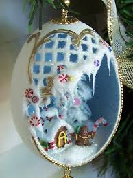 gingerbread ornament theme duck egg by eggshells