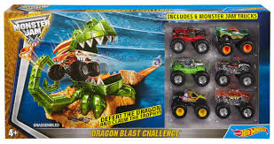 walmart monster jam trucks wheels monster jam dragon blast challenge set walmart canada