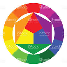 color wheel and triangle illustration stock vector art 668426116