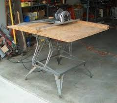 bench for circular saw support bench tools on a workmate 6 steps