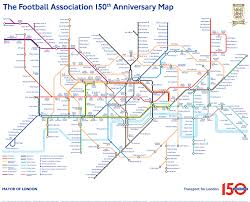 Tube Map London It U0027s All Kicking Off In This Tube Map Of Famous Footballers U2013 Now