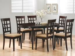 Dining Room Sets 6 Chairs by Coaster Mix U0026 Match Oval Dining Leg Table Coaster Fine Furniture