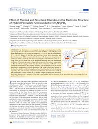 effect of thermal and structural disorder on the electronic